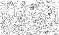 Обои-раскраски Ноев ковчег  60*100 C-100014, фото 1