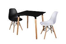 Стол обеденный в скандинавском стиле DT-9017 Evrodim, цвет столешницы черный, фото 3