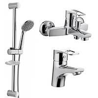 Акционный набор смесителей для ванны IMPRESE LIDICE (05095+10095 + 1115 + W100SL1 C)