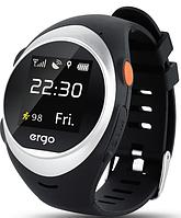 Детские часы с GPS трекером ERGO GPS TRACKER ADVANCED COLOR A010 SIVER 6335490 Серебристый