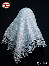 Пуховий платок-паутинка Лаурета 110 см, фото 3