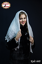 Пуховий платок-паутинка Лаурета 110 см, фото 2