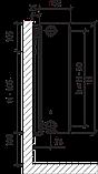 Сталевий (панельний) радіатор PURMO Ventil Compact т33 500x1000 нижнє підключення, фото 4