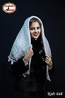 Пуховий платок-паутинка Лаурета 100 см