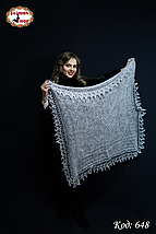 Пуховий платок-паутинка Лаурета 100 см, фото 3