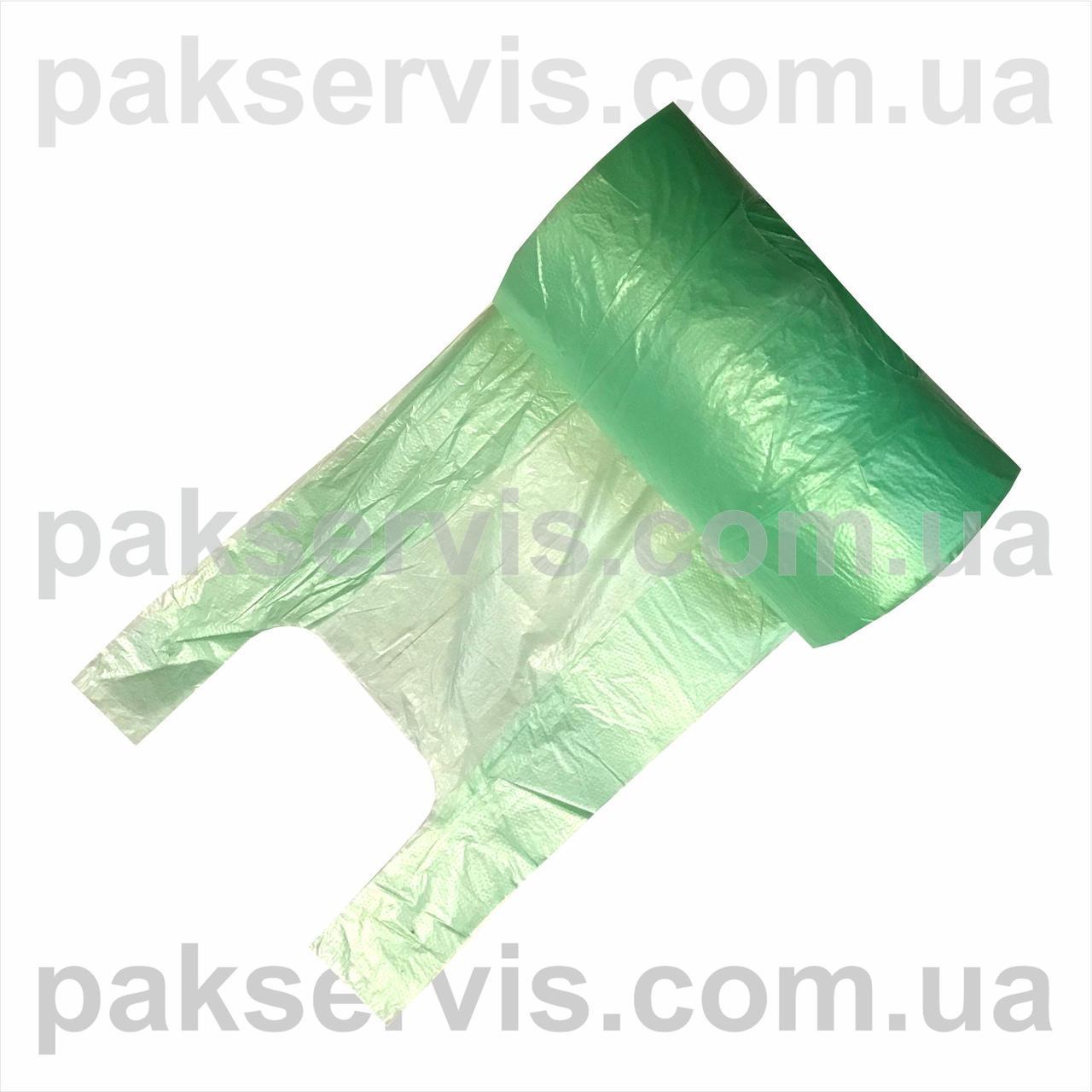 Пакет майка 27х46 в рулоне 12мкн 500шт зеленая 1/6