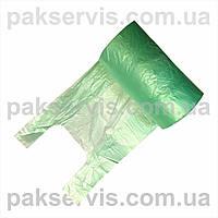 Пакет майка 22х45 в рулоні 250шт 10мкн зелена 1/20