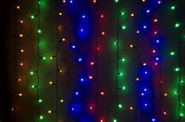 Гирлянда Водопад 240 LED размер 2*1 м (мультицвет)