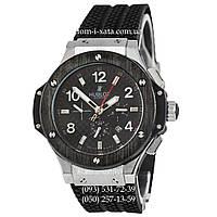 Мужские наручные часы Hublot Big Bang Automatic Black-Metallic-Black механические часы с автоподзаводом Хублот
