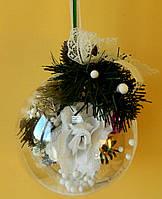 Новорічна куля декоративна з троянд 14 см Новогодний шар декоративный из роз