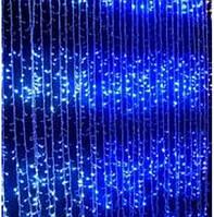 Голубая гирлянда Водопад 360 LED размер 1,5*2,2 новогодняя (waterfall light)