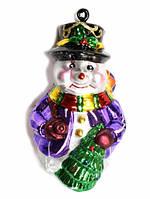 """Новогодняя игрушка-подвеска """"Снеговик с елочкой"""" выс.16см"""