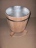 Кадка для цветов дубовая 5 л. со вставкой