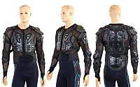 Моточерепаха мотозащита (PL, пластик, сітчаста тканина, спандекс, р-р M-3XL, чорний), фото 1