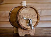 Бочка дубовая для напитков 5 литров