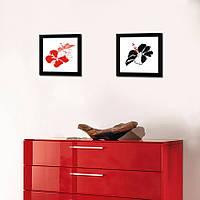 """Небольшие картины в рамке """"Red. Black"""""""