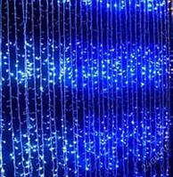 Светодиодная гирлянда водопад 560 светодиодов, 3 м*2 м (голубая)