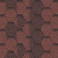Битумная черепица Акваизол / Aquaizol Мозаика ЭКО красный