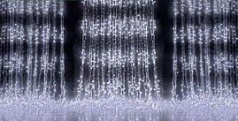 Уличная гирлянда водопад 560 светодиодов, 3 м*2 м, белая