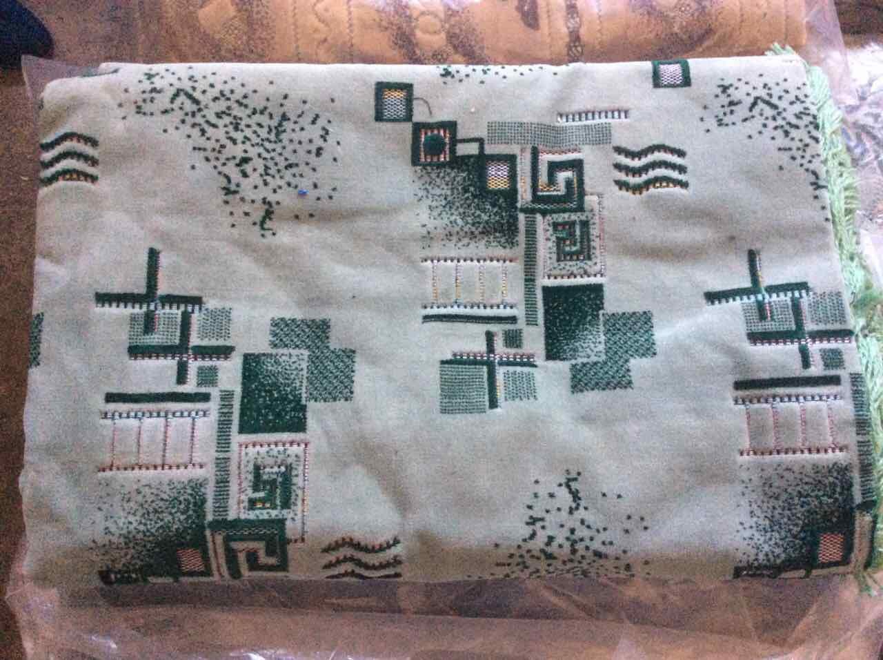 Гобеленовые ковровые покрывала Абстракция 2 зеленое 210х230