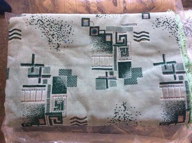 Гобеленовые ковровые покрывала Абстракция 2 зеленое 210х230, фото 2