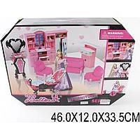 Мебель 66855   с куклой, для кухни,ванной,гостиной,в кор.46*12*33,5см