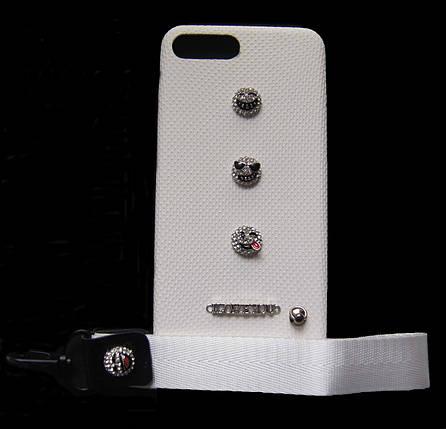 Пластиковый чехол для iPhone 7 Plus / 8 Plus Белый с ремешком, фото 2