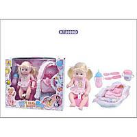 Кукла функц KT3000D  пьет/пис, 31см,с переноской,2бутылочки,горшок,посудка в кор.46*10*37см