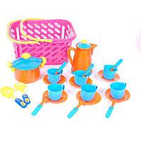 Посуда в корзинке, 22 предмета, арт. KW-04-437