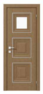 Двери межкомнатные с ПВХ покрытием IRIDA basic molding 1 стекло сатин