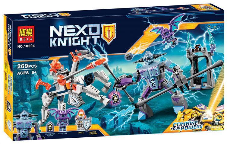 Конструктор Bela 10594 Nexo Knights Ланс против Монстра-молнии 269 деталей