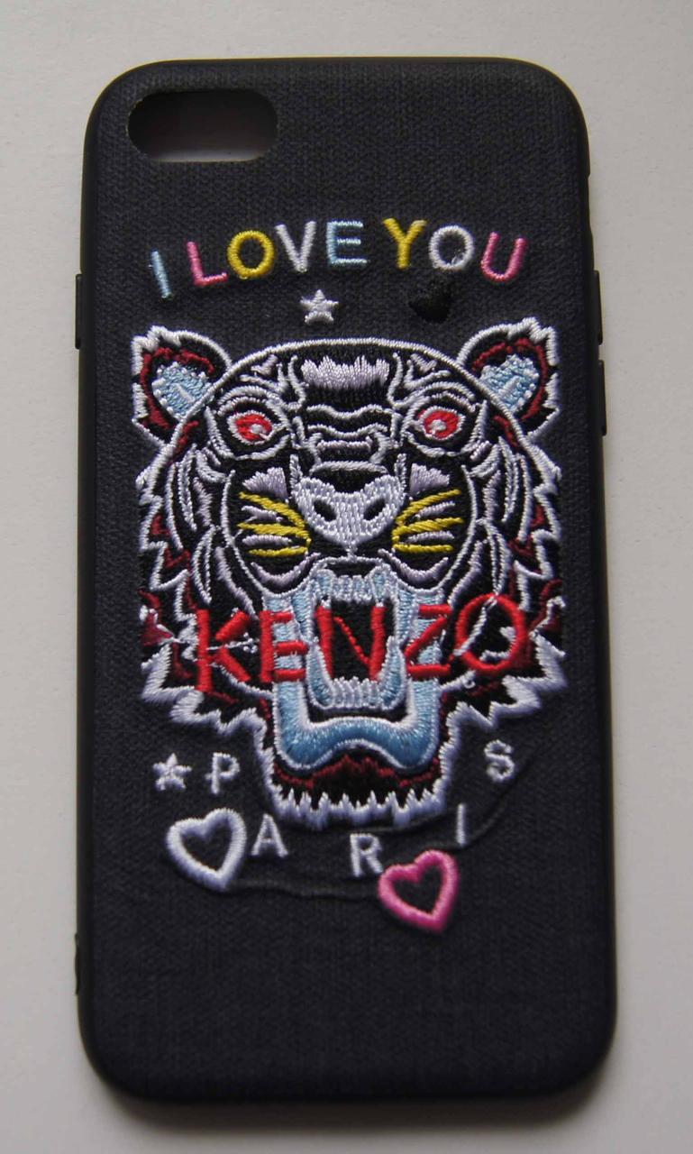 "Плаcтиковый чехол для iPhone 7 / 8 ""I love you kenzo"" Black"