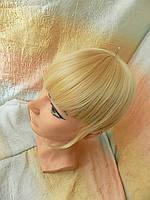 Челка накладная на защелках блонд