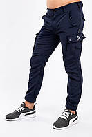 Брюки мужские синие Cargo MAN AND WOLF outfit рип-стоп (30/70)  0,
