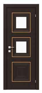 Двери межкомнатные с ПВХ покрытием IRIDA small molding 2 стекло сатин