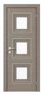 Двери межкомнатные с ПВХ покрытием Renolit Германия IRIDA basic molding 3 стекла сатин