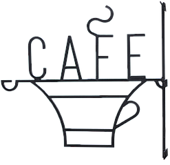 """Вывеска """"Cafe"""""""