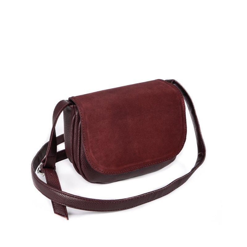 edd4df31a426 Бордовая маленькая замшевая сумка на плечо М55-38/замш: продажа ...