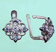 Срібні сережки зі шпінеллю