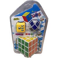 Кубик Рубика 812  ва наборе с кубиком-антистресс и логикой-змейкой, на блистере