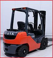 Газовый погрузчик Toyota 02 8FGF25, вагонник, газ, 2008 г., 4.7м.подъем!