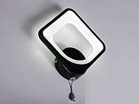Настенный светодиодный светильник(бра) 8060/1 Black 12w