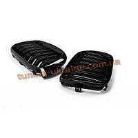 Решетка радиатора M стиль на BMW X3 F25 2014-2017 рестайлинг черная глянцевая