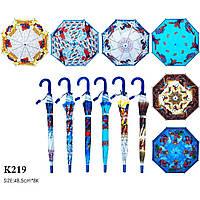 """Зонт """"Spider-Man"""" K219  6 видов, со свистком, в пакете 49 см"""