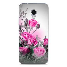 Силиконовый чехол для Meizu M5C с рисунком нежные розы