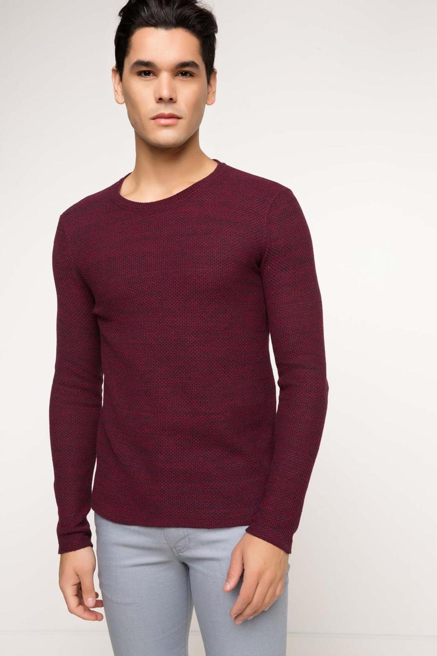 Гранатовый мужской свитер De Facto / Де Факто