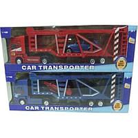 Трейлер металлопластик MK1011  с машинками в коробке