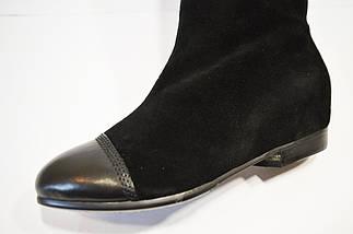 Черные женские сапоги замша Veritas, фото 3