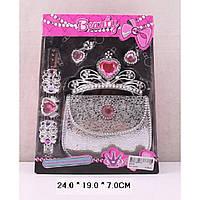 Аксессуары для девочек 610-6  сумочка,диадема,серьги,заколка в кор.24*19*7см