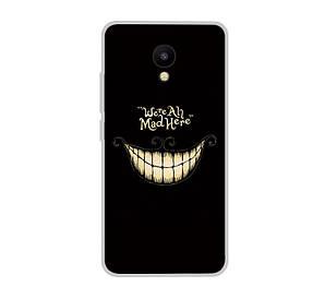Силиконовый чехол для Meizu M5C с рисунком улыбка